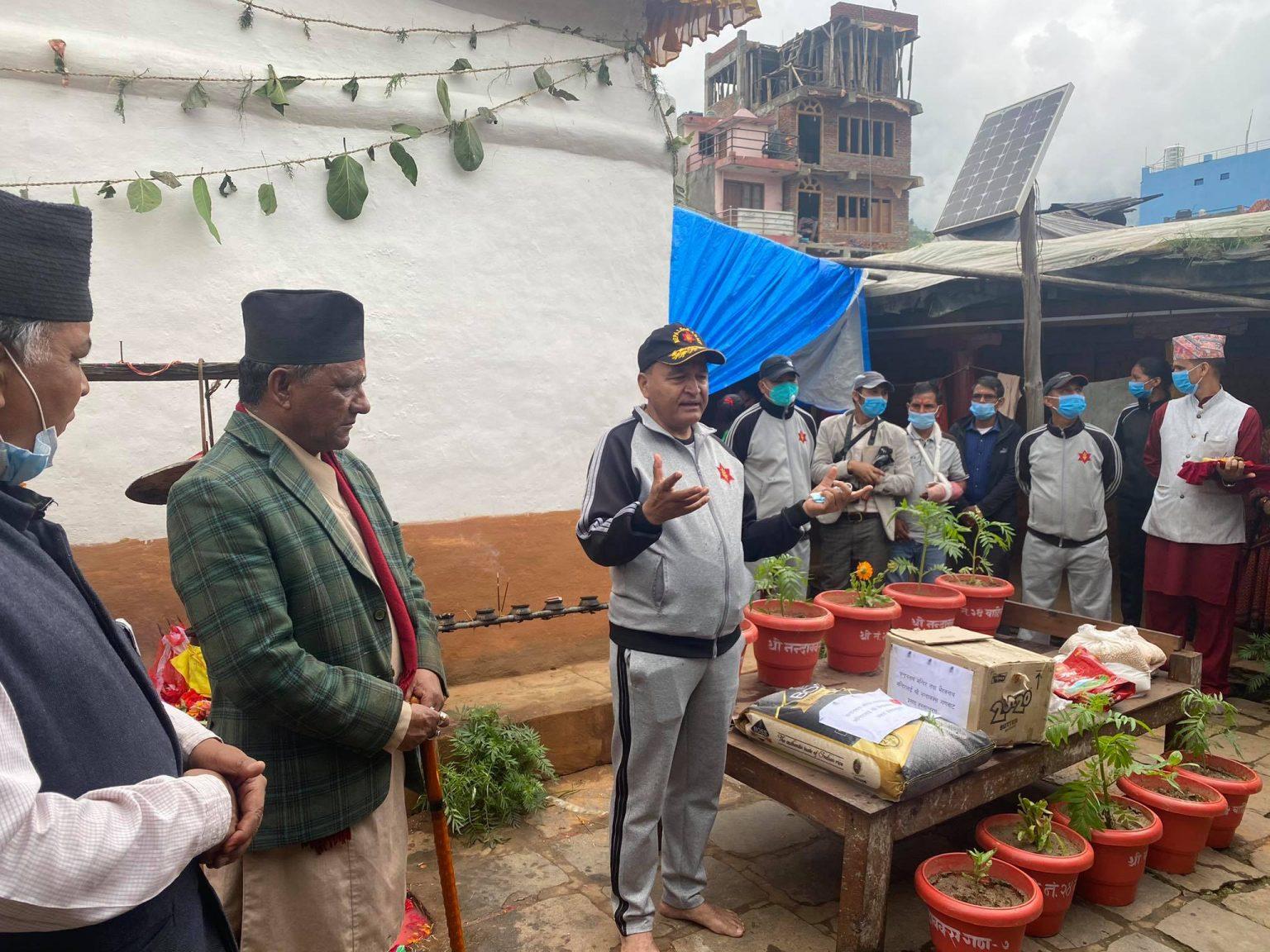 चन्दननाथ भैरबनाथ मन्दिर क्षेत्र मनमोहक बनाउदै नेपाली सेना
