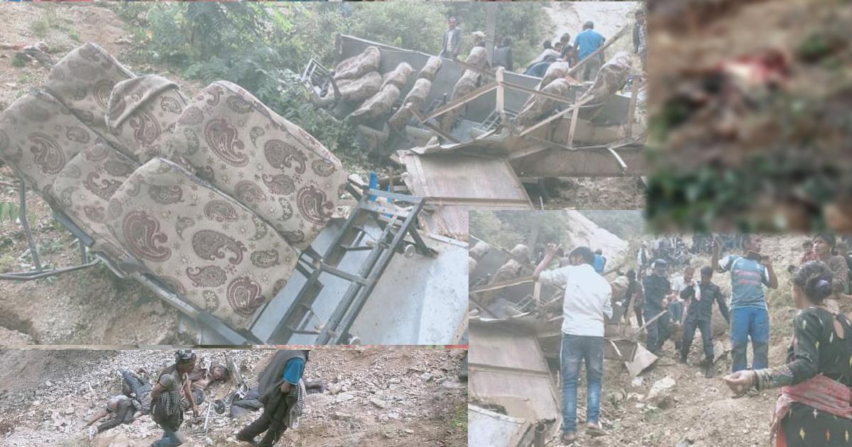 मुगु दुर्घटनामा ३२ ज्यानकाे मृत्यु, अधिकांश विद्यार्थीहरू